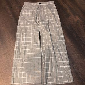 NWT ABERCROMBIE CROPPED WIDE LEG TROUSERS SIZE M